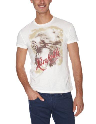 Wrangler Herren  Posterprint T Off White T-Shirt Elfenbein - Off White (Seashell)