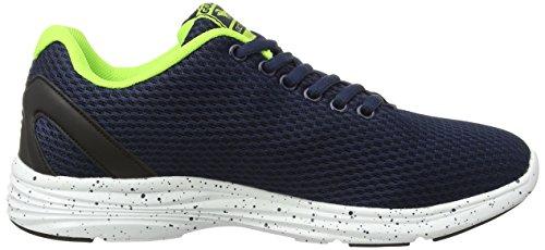 Gola Equinox, Chaussures de Running Compétition Garçon Bleu - Blue (Navy/Black/Lime)