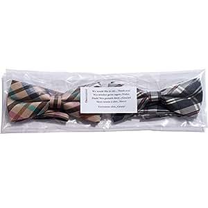 Regali per uomini nuovi Mens Pre legato regolabile Bowties poliestere cotone novità cravatta moda Bowties 8