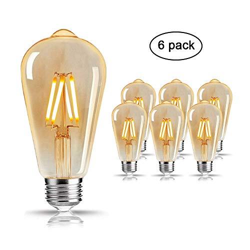 Blanc Lampe AmpouleMixigoo Lumière Led Rétro St64 Filament Chaud Pour 4w Edison Murale Vintage Décorative E27 Antique kwXlOZiuTP