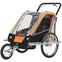 fixi Master Multifunktion 2en 1Remolque de bicicleta/Jogger Baby Carrito transportador (mano carro Naranja BT503)