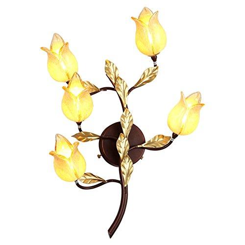 Wandlampe Messing Metall Glas Klassischen Stil 110-120V / 220-240V Gelb mit Glühbirne Für Wohnzimmer Schlafzimmer