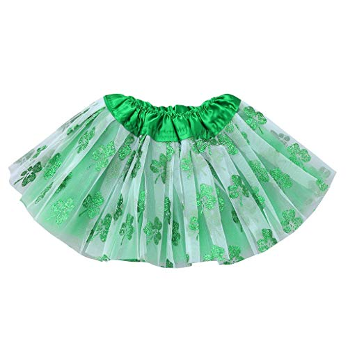 SUNFANY-Kinderkleidung Baby Girls Kids Party St.Patrick's Day Dance Tutu Ballet Bling Costume Skirt(Grün,Free Size)