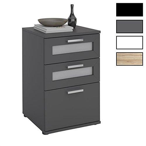 IDIMEX Table de Chevet Table de Nuit Jessy 3 tiroirs mélaminé 4 Coloris Disponibles