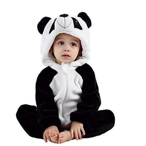 Fancyland Kinder Jumpsuits Kostüm Tier Overall-Onesie Pyjama Schlafanzug-Kapuzenpullover Nachtwäsche Onesie Nachthemd - Schwarzer Bär Nachthemd