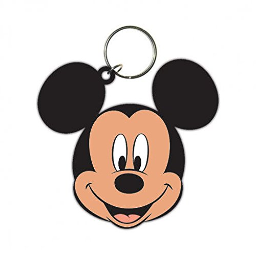 Image of Mickey Mouse Keychain Keyring For Fans - Head (2 x 2 inches)