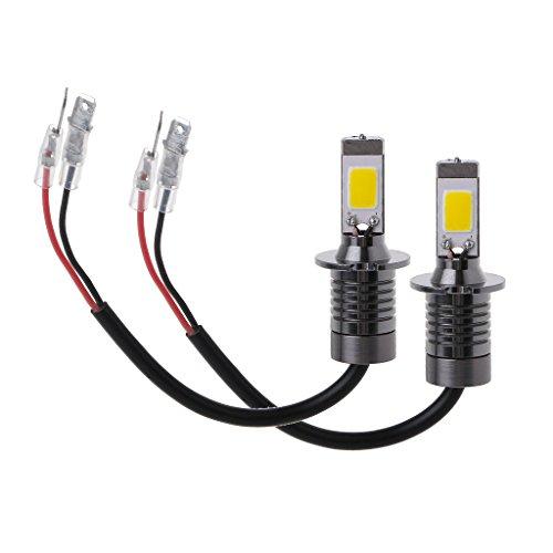 Numkuda 2 x H3 80 W Strobe Flash LED Ampoules de voiture brouillard Conduite lampe de lumière jaune Ambre 3000 K