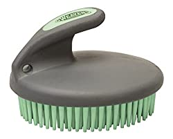 Weaver Leather 65-2061-C1 Palm-Held Fine Curry with Small Rubber Bristles, Mint/Gray