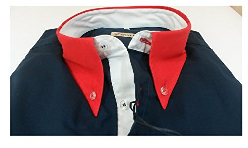Maxfort palau camicia manica corta uomo taglie forti (4xl, blu)