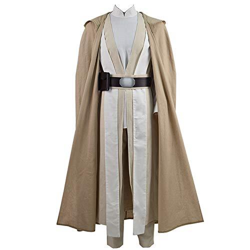Zhangjianwangluokeji Luke Kostüm Cosplay Umhang Cosplay Kostüm Halloween Robe Outfit Cosplay Costume (XS, Stil 1) (Jedi Knight Outfit)