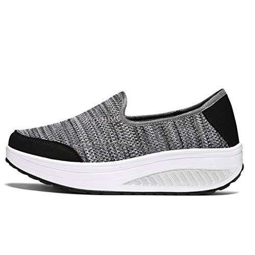 Mujeres Zapatos Casuales de Verano de Color Mixto Antideslizante en la Plataforma Alta luz Transpirable Zapatos Deportivos al Aire Libre para Mujer Ocio Moda Zapatillas de Deporte