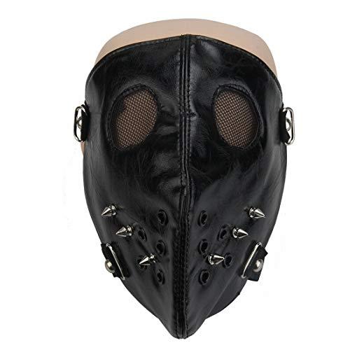 AREDOVL Horror Gothic Niet Steampunk Maske Biker Männer Motorrad Half Face Anti Staub Cosplay Airsoft Wind Kühlen Punk Maske (Color : 3)