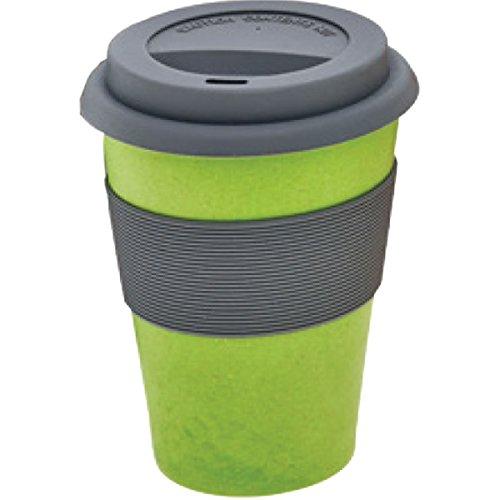 Magu Bambus Coffee2go  Becher naturgrün 0,333l mit Sikokondeckel 130465