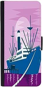 Snoogg Passenger Cargo Ship Dockingdesigner Protective Flip Case Cover For Sa...