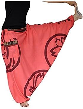 virblatt pantalones bombachos hombre y mujer con tejidos tradicionales talla única pantalones cagados con patrón...