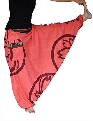 virblatt – Haremshose Damen Herren Aladinhose Yoga Kleidung - Farbenfroh