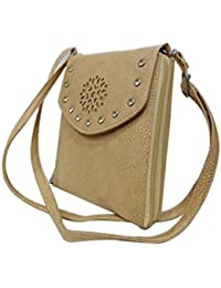 Women's Leather Sling Bag (Brown) - B078NX3TKF