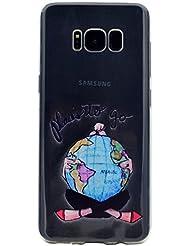 Samsung Galaxy S8 Coque, Samsung Galaxy S8 Housse, Samsung Galaxy S8 Etui,BONROY® Série d'été Ultra-Mince Thin Soft Silicone Etui de Protection pour Souple Gel TPU Bumper Poussiere Resistance Anti-Scratch Case Cover Couverture Pour Samsung Galaxy S8 - monde