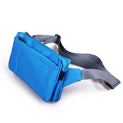 BUSL Escursionismo marsupi documenti. telefono cellulare antifurto pacchetto borsa ammissione unisex in esecuzione impermeabile sottili stretti piccole tasche borsa da viaggio . aqua blue aqua blue
