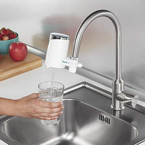 Tapp 1 – Wasserfilter Für Den Wasserhahn Von Tapp Water (Reduziert Chlorgehalt, Kalk, Schwermetalle), Weiß, Chrome, 1500 Liter - 4