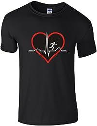 Run-Heartbeat PQRST Wave. - Novelty Running T-Shirt
