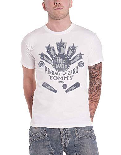 The Who T Shirt Pinball Wizard Flippers Band Logo Nue offiziell Herren (Wizard Dvd Herr)