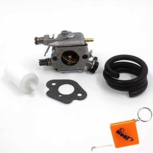 HURI Vergaser mit Dichtung Benzin Schlauch Filter für Husqvarna 51 55 Motorsäge 503281504# Walbro WT-170-1