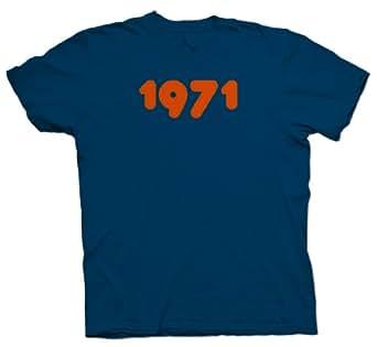 Mens 1971 Retro T-Shirt - Small - Green