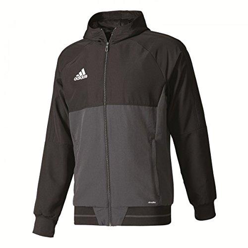 Pallone da calcio Adidas team Sport Track Top tiro17Pre Jkt Uomo-Nerp/grigio scuro/White, BLACK/DKGREY/WHITE, M