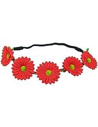 Blumen Haarband mit Margeriten - Zauberhafter Haarschmuck zum Dirndl, für Hochzeiten und viele Anlässe