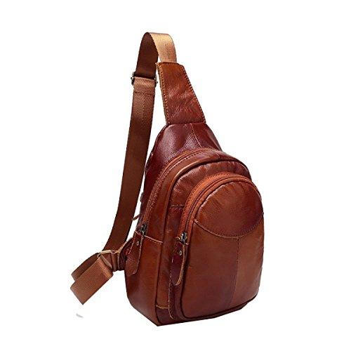 c06470f3c3381 Yy.f Lässig Leder Männer Und Frauen Brusttasche Erste Schicht Aus Leder  Tasche Männer Kurierpaket
