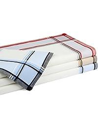 Betz 12 Stück Herren Stoff Taschentücher Set Leo 3 Größe 40x40 cm 100% Baumwolle Farbe Dessin 3