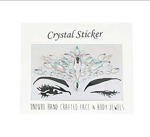 LFVGUIOP Temporäre Strass Glitter Tattoo Aufkleber Gesicht Juwelen Edelsteine   Musik Festival Party Makeup Body Juwelen Flash Face Crystal Sticker -
