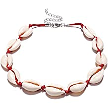 dcbcc8e23831 Collar bohemio de conchas de playa para mujer
