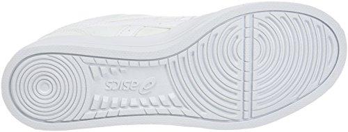ASICS Aaron - Scarpe da Ginnastica Basse Unisex – Adulto, Verde (light Olive/off-white 8502), 44 EU Bianco (White/white)