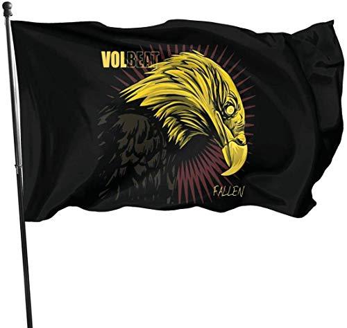 Oaqueen Flagge/Fahne Volbeat Fallen Decorative Fahnen Flaggen, 3 X 5 Ft Flag for Outdoor Indoor Home Decor