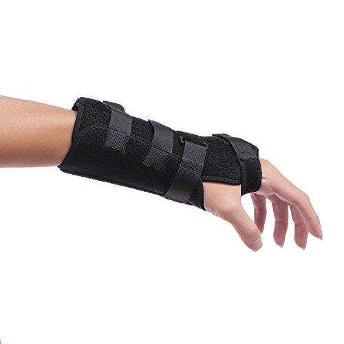Handgelenk-Bandage mit Metall-Schienen. Stützt, schont & stabilisiert zuverlässig das Handgelenk. axion-Markenprodukt - Größe L Links -