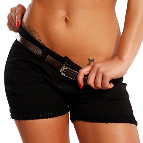 Damen Short Hotpants Strandshort Schwarz