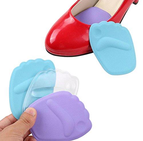 3 Paar rutschfeste 3D-Fußballenkissen, Schuhpads zur Schmerzlinderung, Vorfußeinsätze, Fersenschutz bei hohen Absätzen, Mittelfußpads, Damenschuheinlagen (zufällige Farbauswahl).