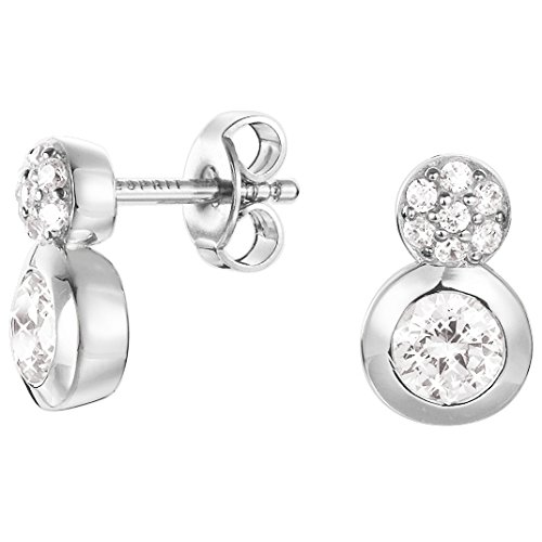 Esprit Damen-Ohrstecker 925 Sterling Silber Zirkonia Embrace ESER92679B000