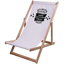 Ziloo - Hamaca de madera de calidad Premium, cómoda, regulable y plegable. Hamaca de playa y jardín de madera de eucalipto., Needs Coffee