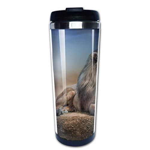 Animal King Series Lion (8) Stainless Steel Coffee Tumbler Insulated Thermos Cup Travel Mug -