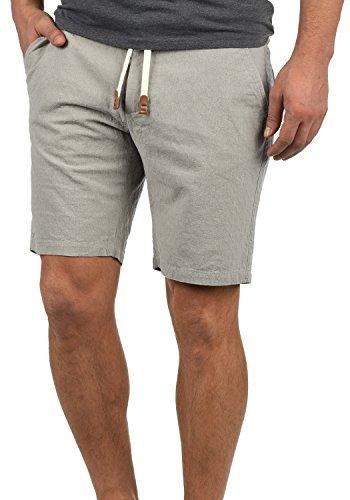 Baumwoll-leinen-muster (Blend Serge Herren Chino Shorts Bermuda Kurze Hose Mit Rauten-Muster Und Kordel-Gürtel Aus 100% Baumwolle Regular Fit, Größe:XL, Farbe:Granite (70147))