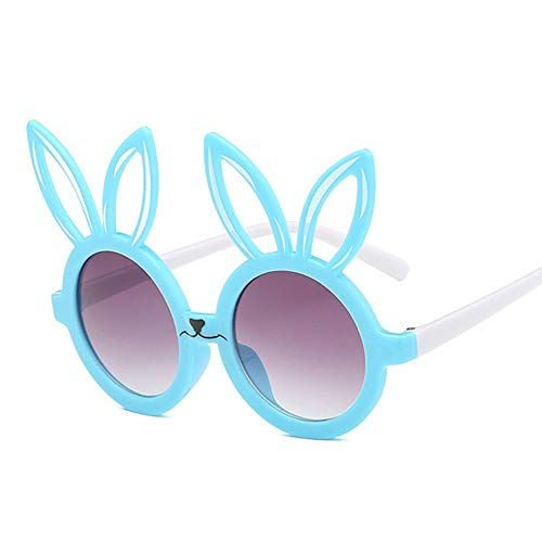 MoHHoM Sonnenbrillen Für Kinder,Niedliche Kaninchen Form Flexible Kinder Sonnenbrille Uv 400 Brillen Farben Kleinkind Kind Baby Kinder Sicherheit Polarisierte Sonnenbrille Blau
