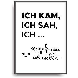 Kunstdruck KAM SAH VERGAß Poster Bild Print ungerahmt DIN A4