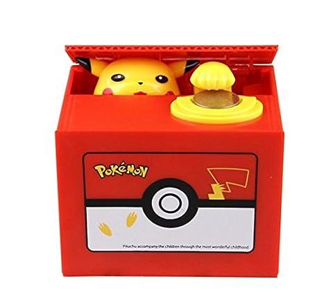 Cute Puppy Hungry manger Chien Tirelire économie d'Boîte/banque/pot de pièces de monnaie banque pièce de monnaie Boue jouet Tirelire (), Pikachu