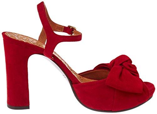 Chie Mihara Sandali ante Rojo Rosso Castus Donna qqHw6rT