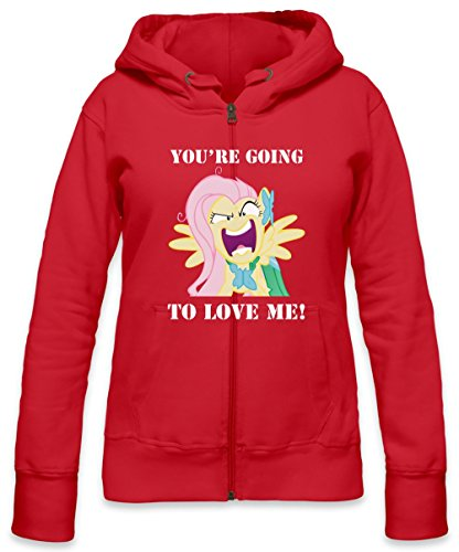 You're Going To Love Me Fluttershy Womens Zipper Hoodie X-Large