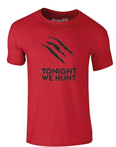 Tonight We Hunt, Erwachsene Gedrucktes T-Shirt - Rote/Schwarz L = 104-109 cm -