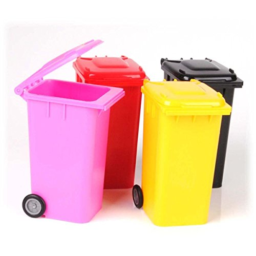 MStick Universal Tabletop mini dustbin wheelie dustbin design to hold Pen / Pencil / Desk Tidy Features.